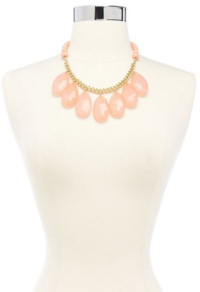 Charlotte Russe Faceted Teardrop Statement Necklace