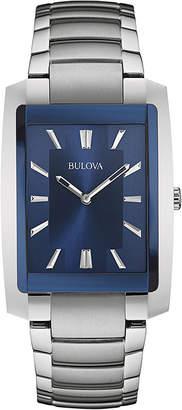 Bulova Classic Mens Rectangular Stainless Steel Watch 96A169