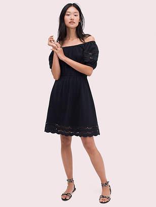Kate Spade Scallop Border Knit Dress, Black - Size L