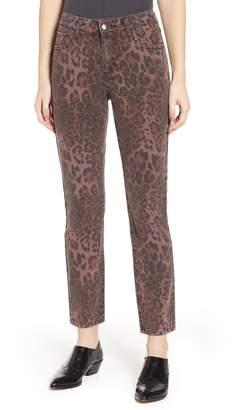 PROSPERITY DENIM Leopard Print Skinny Jeans