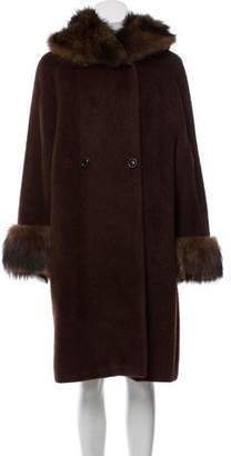 Max Mara Fur-Trimmed Alpaca & Wool Coat