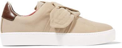 Burberry - Knotted Gabardine Slip-on Sneakers - Sand
