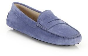 Tod's Gommini Suede Drivers $425 thestylecure.com
