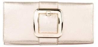 Michael Kors Michael Metallic Grained Leather Clutch
