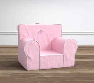 Pottery Barn Kids Light Pink Pin Dot Anywhere Chair® Slipcover Only