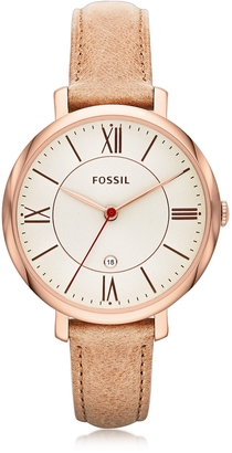 Fossil Jacqueline Sand Leather Women's Watch $115 thestylecure.com