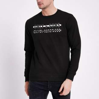 River Island Only and Sons black printed sweatshirt
