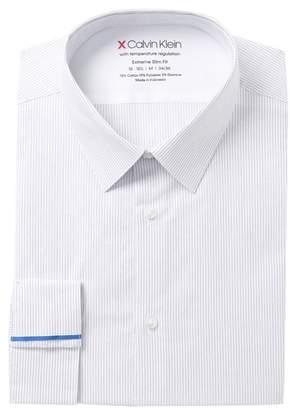 Calvin Klein Striped Extreme Slim Fit Dress Shirt