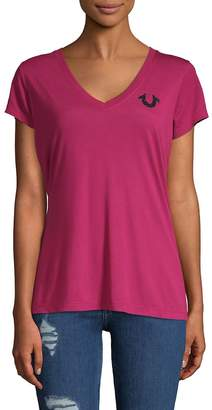True Religion Women's Soft V-Neck Tee