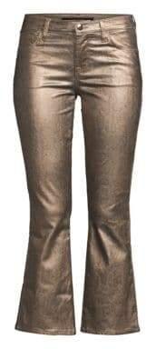 J Brand Selena Mid Rise Metallic Pants