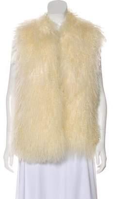 Michael Kors Open Front Lamb Fur Vest