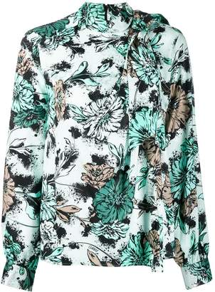 Pinko pussy bow floral print blouse