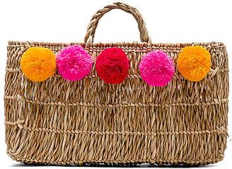 Pitusa Pom Pom Straw Bag