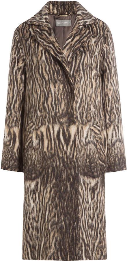 Alberta Ferretti Printed Coat with Virgin Wool and Alpaca Wool