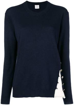Alysi (アリジ) - Alysi contrast insert sweater