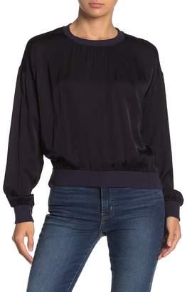 Nation Ltd. Shay Drop Shoulder Satin Sweater