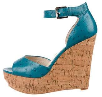 MICHAEL Michael Kors Embossed Wedge Sandals