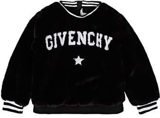 Givenchy Kids' Logo Faux-Fur Sweatshirt
