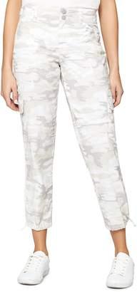 Sanctuary Terrain Cropped Camouflage-Print Cargo Pants