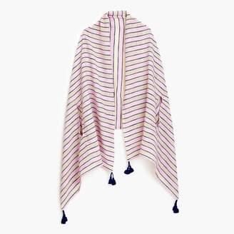 J.Crew Summerweight cape scarf in pink stripe