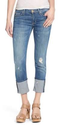 Hudson 'Muse' Cuff Crop Jeans