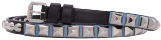 Prada Black Studded Belt