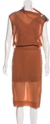 By Malene Birger Embellished Midi Dress