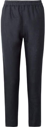 Mansur Gavriel Linen Tapered Pants - Midnight blue