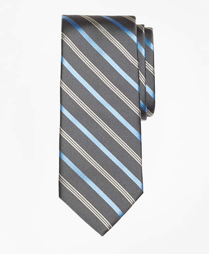 Brooks Brothers Tonal Alternating Split Stripe Tie