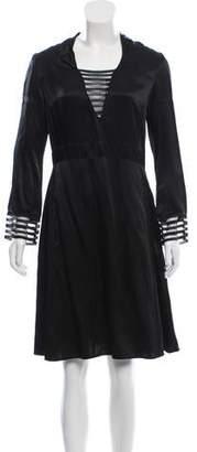 Marc Jacobs Long Sleeve Sheath Dress
