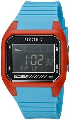 Electric Unisex EW0120030075 ED01 Tide Digital Display Japanese Quartz Blue Watch