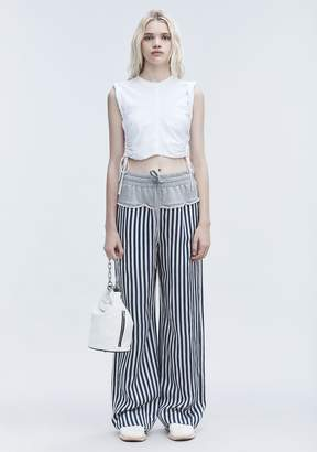 Alexander Wang TERRY STRIPE COMBO PANTS PANTS