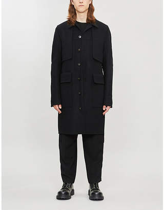 Rick Owens Belted wool-blend trench coat