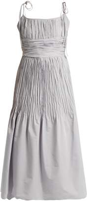 Brock Collection Didier ruched cotton and silk-blend dress