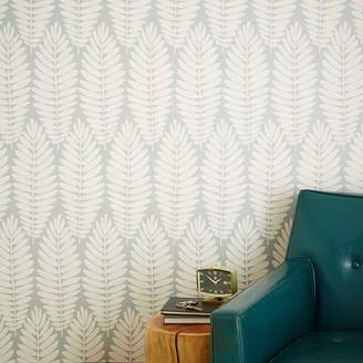 west elm Chasing Paper Removable Wallpaper Panels – Fern (Gray)
