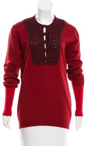 FendiFendi Cashmere Long Sleeve Sweater
