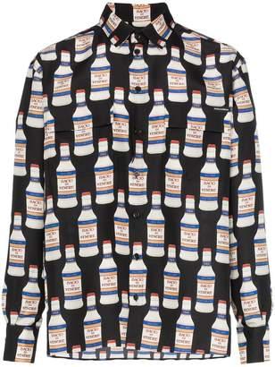 Dolce & Gabbana bottle print silk shirt