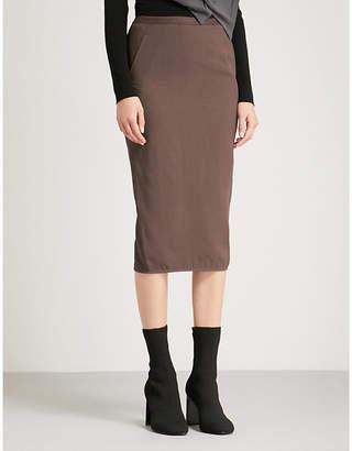 Rick Owens Soft Pillar crepe skirt