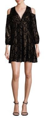 Alice and Olivia Arla Scalloped Cold-Shoulder Dress $395 thestylecure.com