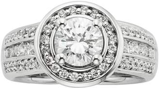 Kohl's Round-Cut IGL Certified Diamond Frame Engagement Ring in 14k White Gold (1 3/4-ct. T.W.)
