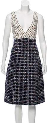 Oscar de la Renta Tweed Midi Dress