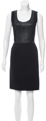 Pink Tartan Leather-Trimmed Sleeveless Dress $85 thestylecure.com