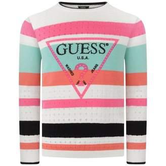GUESS GuessGirls Striped Cotton Knit Sweater