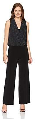 Karen Kane Women's Sparkle Knit Palazzo Jumpsuit