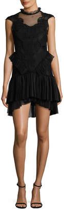 Jonathan Simkhai Tiered Ruffle Contour Dress