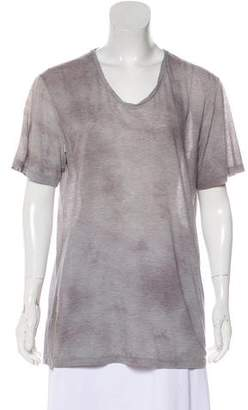 Theory Short Sleeve Tie-Dye Top