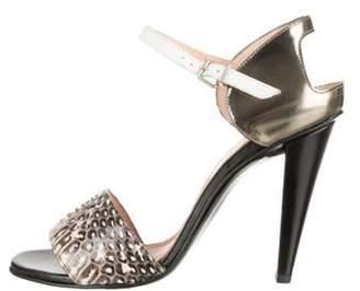 Roland Mouret Demoisels Snakeskin Sandals Black Demoisels Snakeskin Sandals