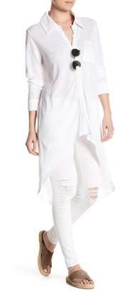 Cullen Linen Hi-Lo Shirt $136 thestylecure.com