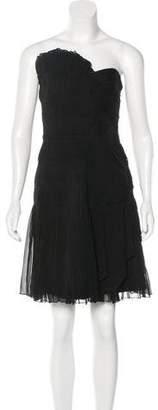 Philosophy di Alberta Ferretti Silk Pleated Dress