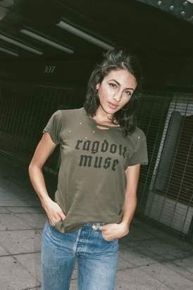 "Rag Doll Ragdoll DISTRESSED VINTAGE TEE ""RAGDOLL MUSE"" Dark Army"